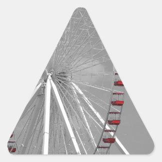 Chicago Navy Pier Ferris Wheel Triangle Sticker