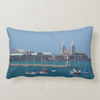 Chicago Navy Pier Lumbar Pillow