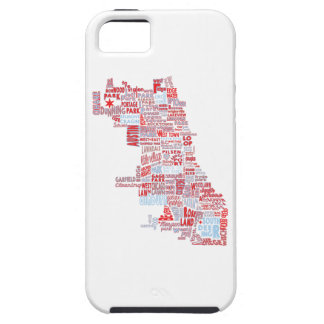 Chicago Neighborhood Map iPhone SE/5/5s Case