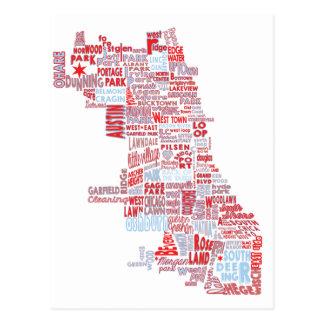 Chicago Map Postcards  Zazzle