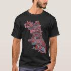 Chicago Neighborhood Map T-Shirt
