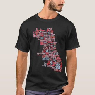 Chicago Neighborhood Map T-Shirt