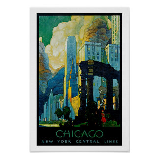 Chicago ~ New York Central Lines Poster