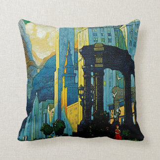 Chicago ~ New York Central Lines Throw Pillow