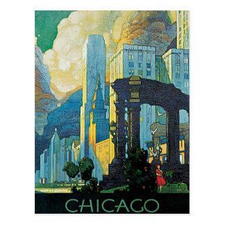 Chicago New York Central Lines Vintage Postcard