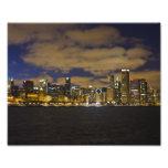 Chicago Night Skyline Print Art Photo