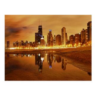 Chicago Nights Postcard