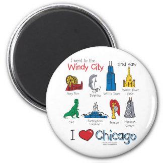 Chicago--Niño-Icono-NUEVO [Co Imán Redondo 5 Cm