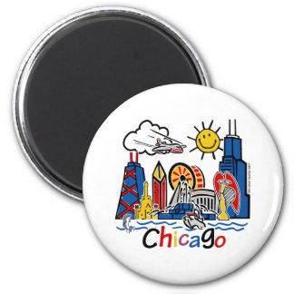 Chicago-NIÑOS [convertidos] Imán Redondo 5 Cm