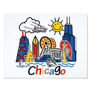 "Chicago-NIÑOS [convertidos] Invitación 4.25"" X 5.5"""