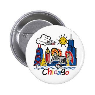Chicago-NIÑOS [convertidos] Pin Redondo De 2 Pulgadas