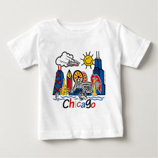 Chicago-NIÑOS [convertidos] Playera De Bebé