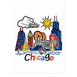 Chicago-NIÑOS [convertidos] Postal