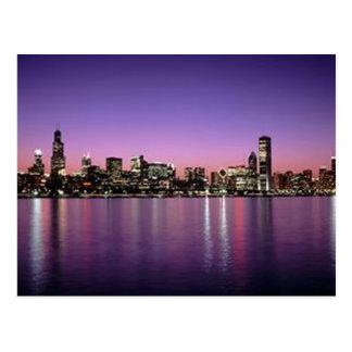 Chicago Nitetime Skyline Post Cards