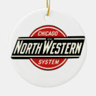 Chicago & Northwestern Railroad Logo 1 Ceramic Ornament