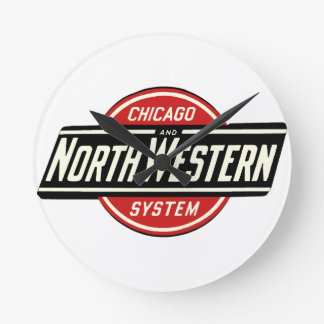 Chicago & Northwestern Railroad Logo 1 Round Clock