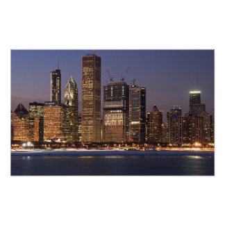 Chicago Obama Skyline Poster