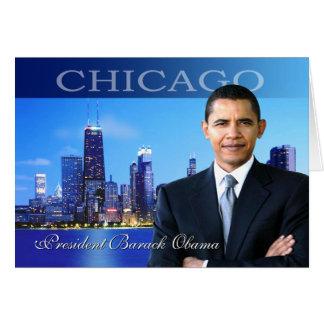 Chicago Obama Tarjeta De Felicitación