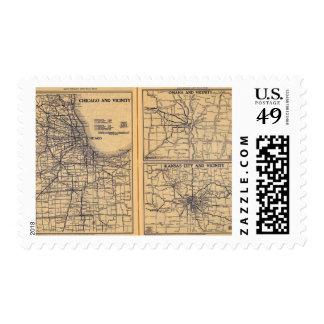 Chicago, Omaha, Kansas City Postage