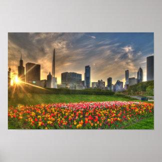 Chicago on canvas print