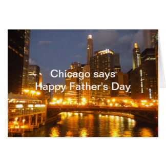 Chicago on the River Father's Day Card