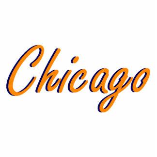 Chicago Orange and Blue Cutout