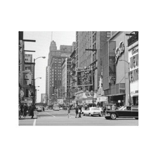 Chicago Oriental Theater Loop Randolph St. 1960's Canvas Print