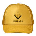 Chicago -- Oro brillante Gorras De Camionero