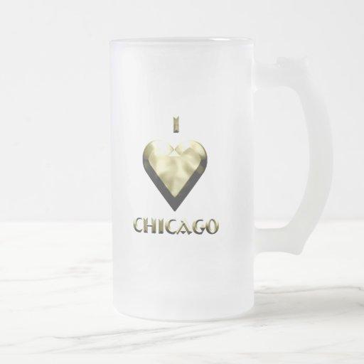 Chicago -- Oro brillante Tazas De Café