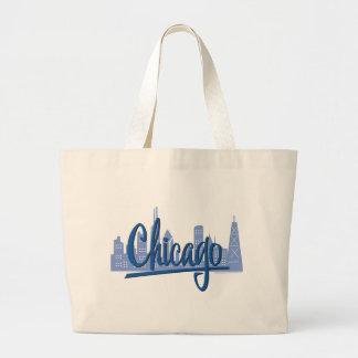 Chicago-Oscuro-Azul Bolsa Tela Grande