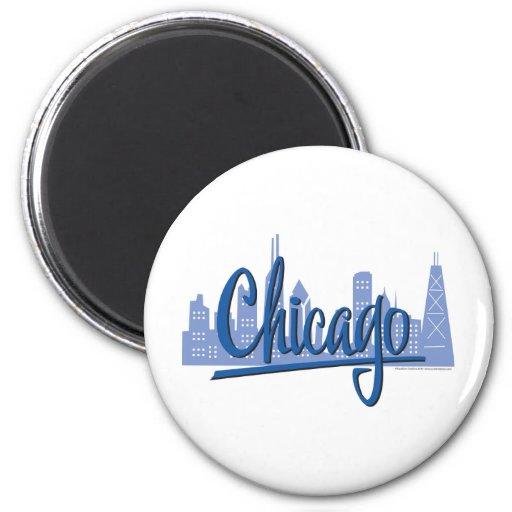 Chicago-Oscuro-Azul Imán Para Frigorifico