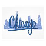 Chicago-Oscuro-Azul Invitaciones Personalizada