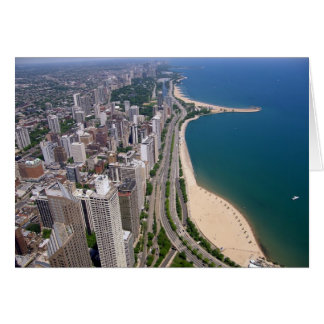 Chicago panoramic view card