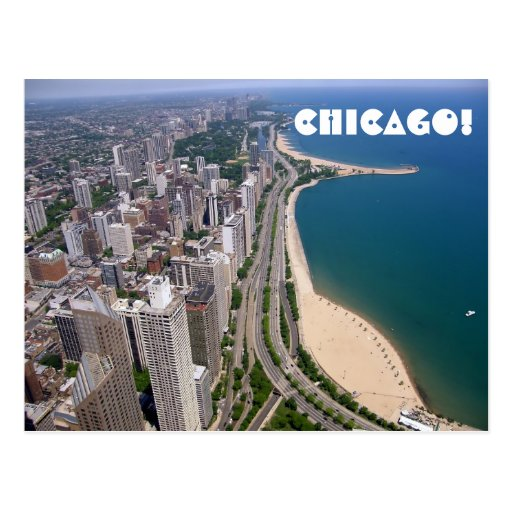 Chicago panoramic view post card