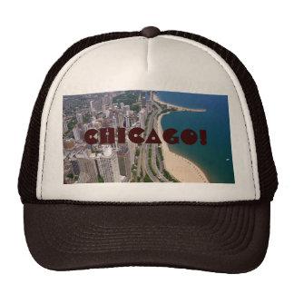Chicago panoramic view trucker hat