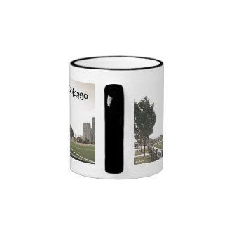 Chicago Park Sepia Tones 11 oz Ringer Mug