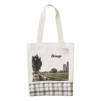 Chicago Park Sepia Tones Zazzle HEART Tote Bag