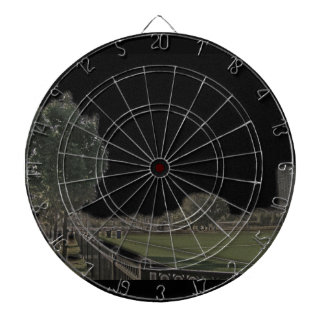 Chicago Park with Blackened Skies Dartboard