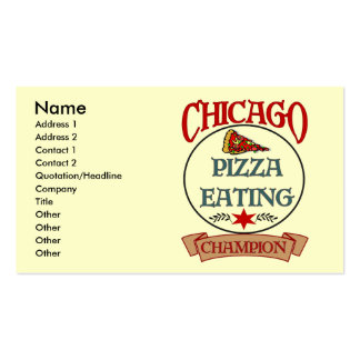 Chicago Pizza Eating Champ Double-Sided Standard Business Cards (Pack Of 100)
