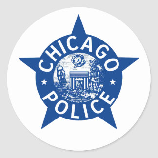 Chicago Police VINTAGE STAR Classic Round Sticker