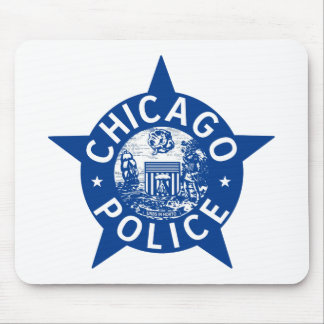 Chicago Police VINTAGE STAR Mouse Pad