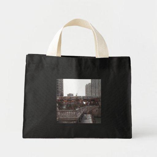 Chicago… por el río bolsa tela pequeña