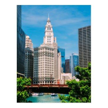 USA Themed Chicago postcard