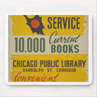 Chicago Public Library Curb Service Mouse Pad