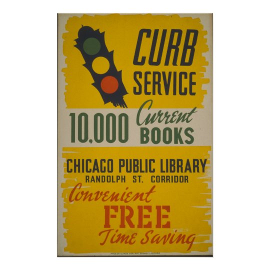 Chicago Public Library Curb Service Poster