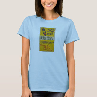 Chicago Public Library Curb Service Poster T-Shirt