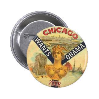 Chicago quiere el botón de Obama Pins