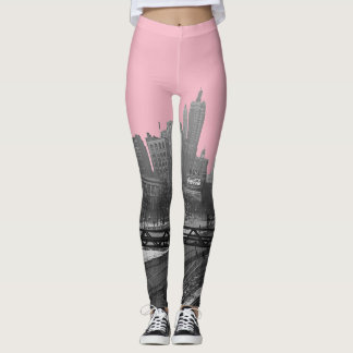 Chicago Rail yards railroad loop downtown Leggings