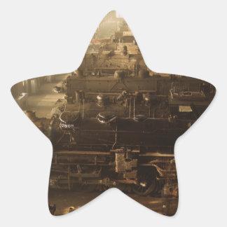 Chicago Railway Locomotive Shop Star Sticker
