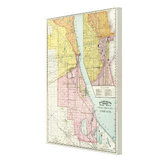Chicago Railway Terminal Map Canvas Print